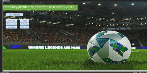 Fotbalový přehled za podzimní část sezony 2019